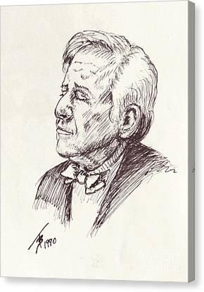 Leonard Berstein Canvas Print by Art By - Ti   Tolpo Bader