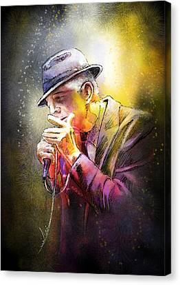 Leonard Cohen 02 Canvas Print by Miki De Goodaboom
