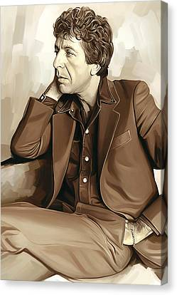 Leonard Cohen Artwork 2 Canvas Print