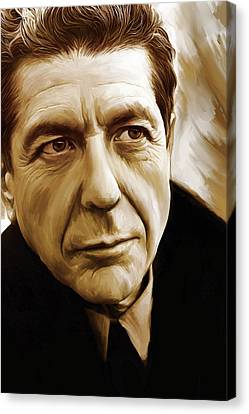 Leonard Cohen Artwork Canvas Print