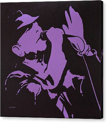 Leonard Cohen The Tower Of Song Canvas Print by John  Nolan
