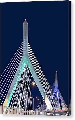 Leonard P. Zakim Bunker Hill Memorial Bridge II Canvas Print by Susan Candelario