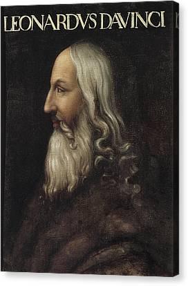 Old Man With Beard Canvas Print - Leonardo Da Vinci 1452-1519. Painting by Everett
