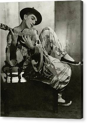 Ballet Dancers Canvas Print - Leonide Massine In Costume For The Ballet Russes by Maurice Beck & Helen Macgregor