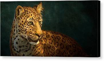 Leopard Canvas Print by Aaron Blaise