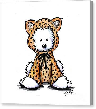 Leopard Cub Westie Canvas Print
