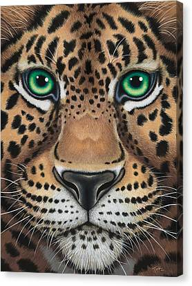 Wild Eyes Leopard Face Canvas Print
