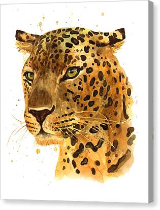 Leopard Gaze Canvas Print by Alison Fennell