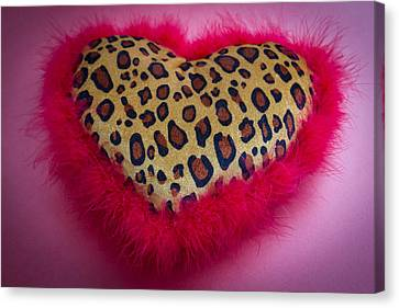 Canvas Print featuring the photograph Leopard Heart by Patrice Zinck