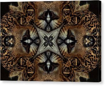 Leopard Kaleidoscope  Canvas Print