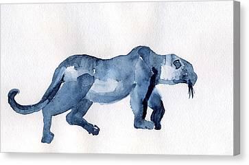 Leopard Canvas Print by Lelia Sorokina