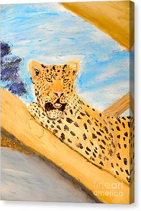 Leopard Canvas Print by Pamela  Meredith