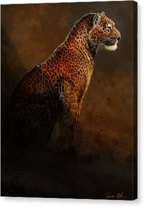 Leopard Portrait Canvas Print by Aaron Blaise