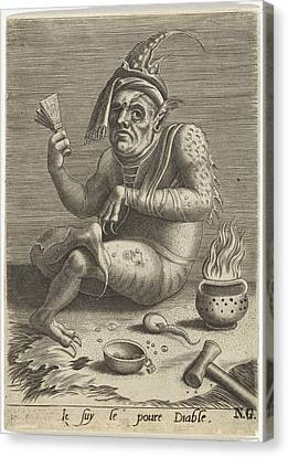 Lepers Beggar In The Guise Of The Devil, Anonymous Canvas Print by Quint Lox