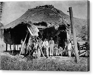 Lepers In The Philippines Canvas Print by National Library Of Medicine