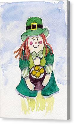 Leprechaun Lassie Canvas Print