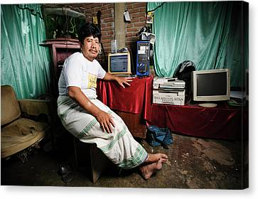 Leprosy Settlement Resident Canvas Print by Matthew Oldfield