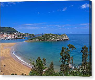 Lequeitio In Basque Country Spain Canvas Print by Louise Heusinkveld