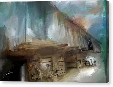 Lequire Cantilever Barn Canvas Print by Evie Carrier