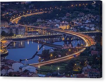Canvas Print featuring the photograph Lerez River Pontevedra Galicia Spain by Pablo Avanzini