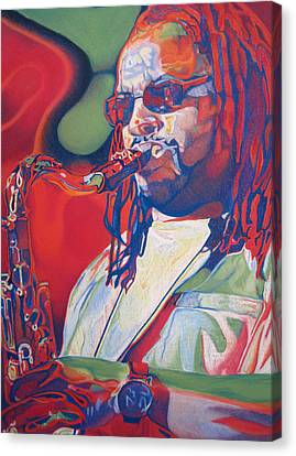 Leroi Moore Colorful Full Band Series Canvas Print by Joshua Morton