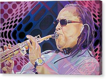 Dave Matthews Band Canvas Print - Leroi Moore by Joshua Morton