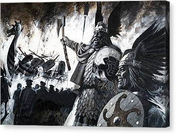 Vikings Canvas Print - Lerwick Up Helly, A Viking Festival by Andrew Howat