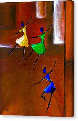 Les Ballerines Canvas Print by Mirko Gallery