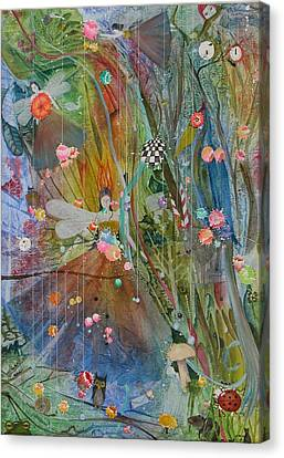Canvas Print featuring the painting Les Carioles by Jackie Mueller-Jones