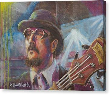 Les Claypool Canvas Print by Josh Hertzenberg
