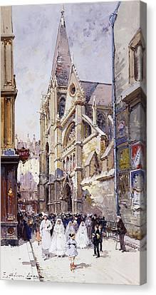 Les Communianates A Paris Canvas Print