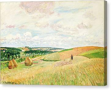 Les Coteaux De Thierceville Canvas Print