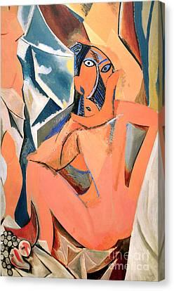 Les Demoiselles D'avignon Picasso Detail Canvas Print by RicardMN Photography