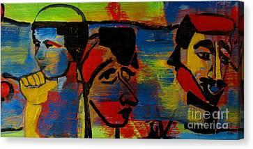 Les Gens A La Lac Two Canvas Print by Grace Liberator