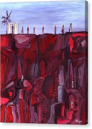 Les Gens De La Falaise Canvas Print by Mirko Gallery