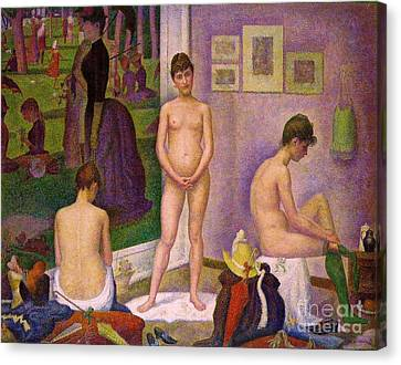 Les Modeles Canvas Print by Pg Reproductions