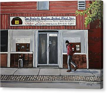 Les Produits Quebec Smoked Meat Inc Canvas Print