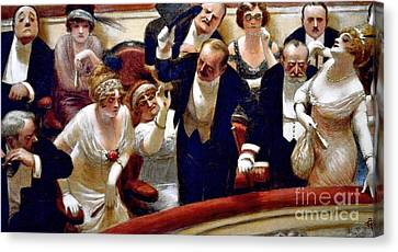 Les Retardataires Canvas Print by Roberto Prusso