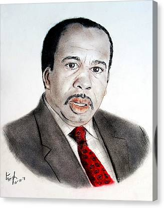 Leslie David Baker As Stanley Hudson On The Office  Canvas Print by Jim Fitzpatrick