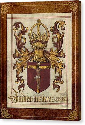 Lesser India - Ethiopia Medieval Coat Of Arms  Canvas Print by Serge Averbukh