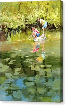 Cattail Canvas Print - Lessons Of The Lake by Kris Parins