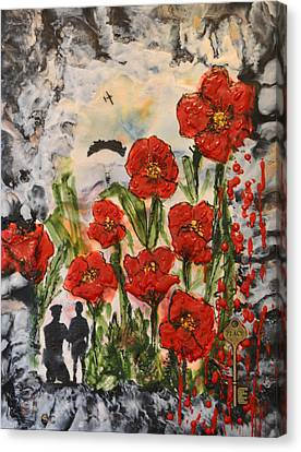 Officer Canvas Print - Lest We Forget  by Sally Clark