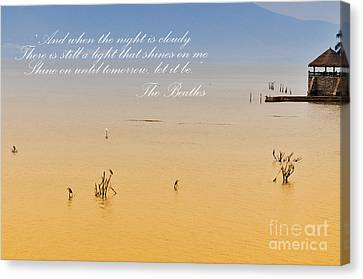 Let It Be Canvas Print