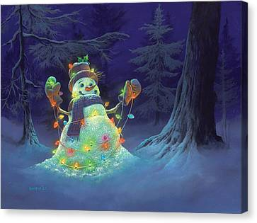Night Canvas Print - Let It Glow by Michael Humphries