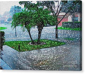 Let It Rain -  Digitally Modified Photo Canvas Print by Merton Allen