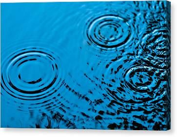 Water Drops Canvas Print - Let It Rain by Debi Bishop