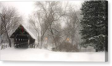 Covered Bridges Canvas Print - Let It Snow by Andrew Soundarajan