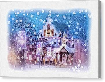 Let It Snow Canvas Print by Mo T