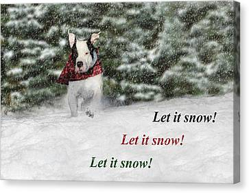 Let It Snow Canvas Print by Shelley Neff