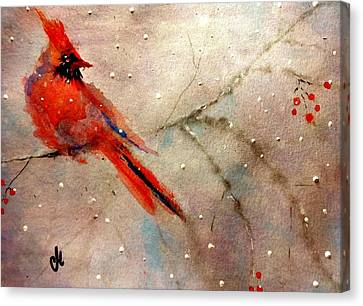Let It Snow..let It Snow.. Canvas Print by Cristina Mihailescu